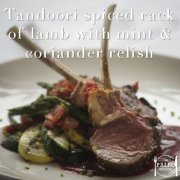 Tandoori Spiced Rack of Lamb with Mint and Coriander Relish paleo recipe-min