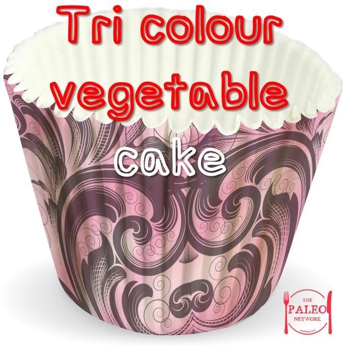 Tri Colour Vegetable Cake paleo diet recipe veggies-min