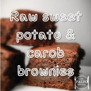 paleo primal recipe Raw Sweet Potato and Carob Brownies sweet treat-min