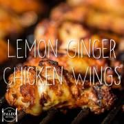 Lemon Ginger Chicken wings paleo recipe barbeque diet mint