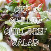 char-grilled chili beef salad recipe paleo diet soy free coriander