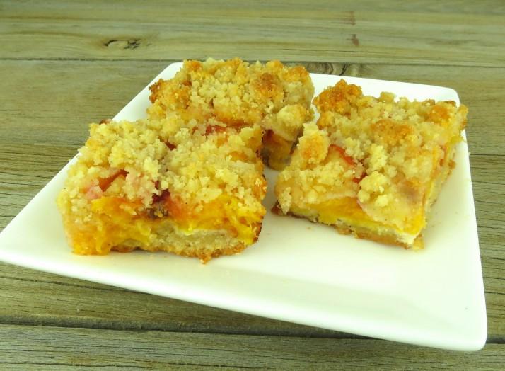 Paleo Frozen Peach Shortcake Squares