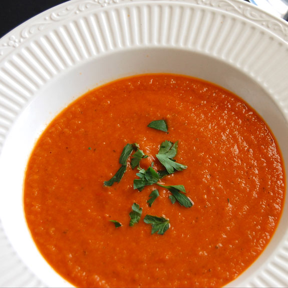 Paleo Hearty Hot or Cold Roasted Tomato Soup