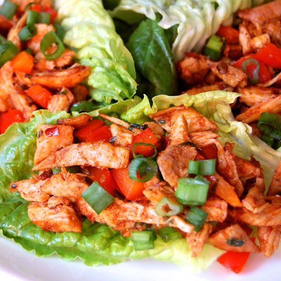 Paleo Cherry Chicken Lettuce Wraps