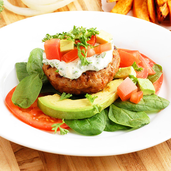 Paleo Moist Turkey Burgers