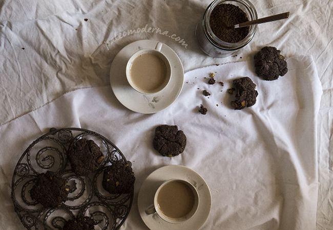 Galletas de chocolate y pistacho
