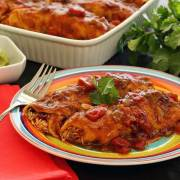 Slow cooker paleo and gluten free chicken enchiladas recipe from PaleoNewbie.com