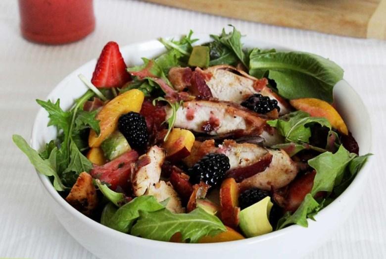 Paleo Chicken Berry Salad