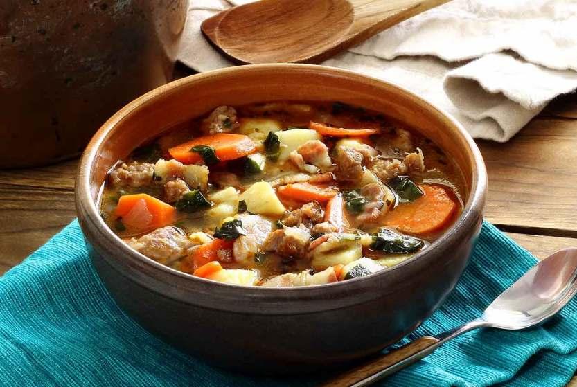 Sweet Potato And Sausage Soup Recipe — Dishmaps