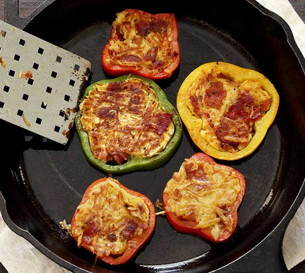 easy paleo recipe for pepper ring hasbrowns in pan