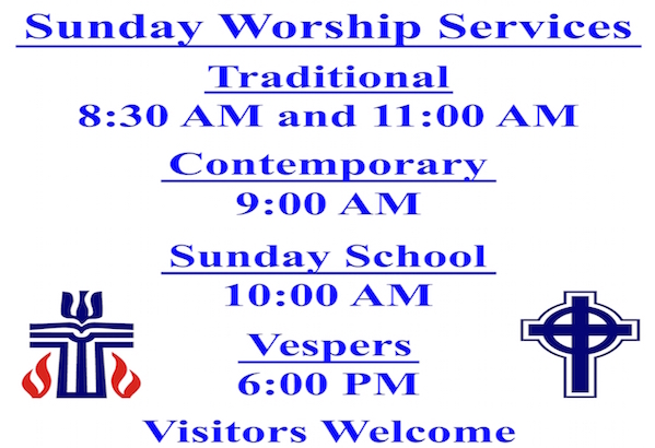 Sunday Services Sign 599x410