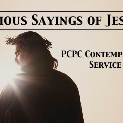 2016 Connection Series-Jesus Sayings Header