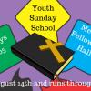 2016 Fall Youth Sunday School starts 8-14