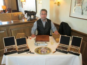 Cigar Boxes on display