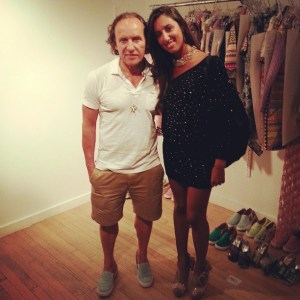 Pamela Quinzi and Fashion Designer Custo Barcelona