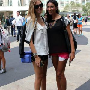 Pamela Quinzi with Italian Fashion Blogger Chiara Ferragni