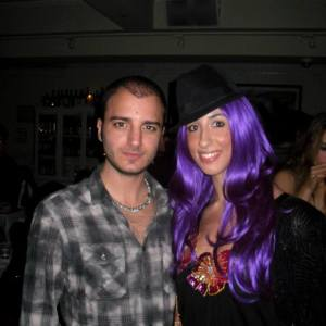 Pamela Quinzi with Italian actor Nicholas Vaporidis at Bagatelle Nyc