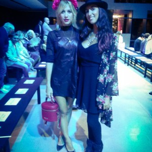 Pamela Quinzi with Fashion blogger Clizia Incorvaia