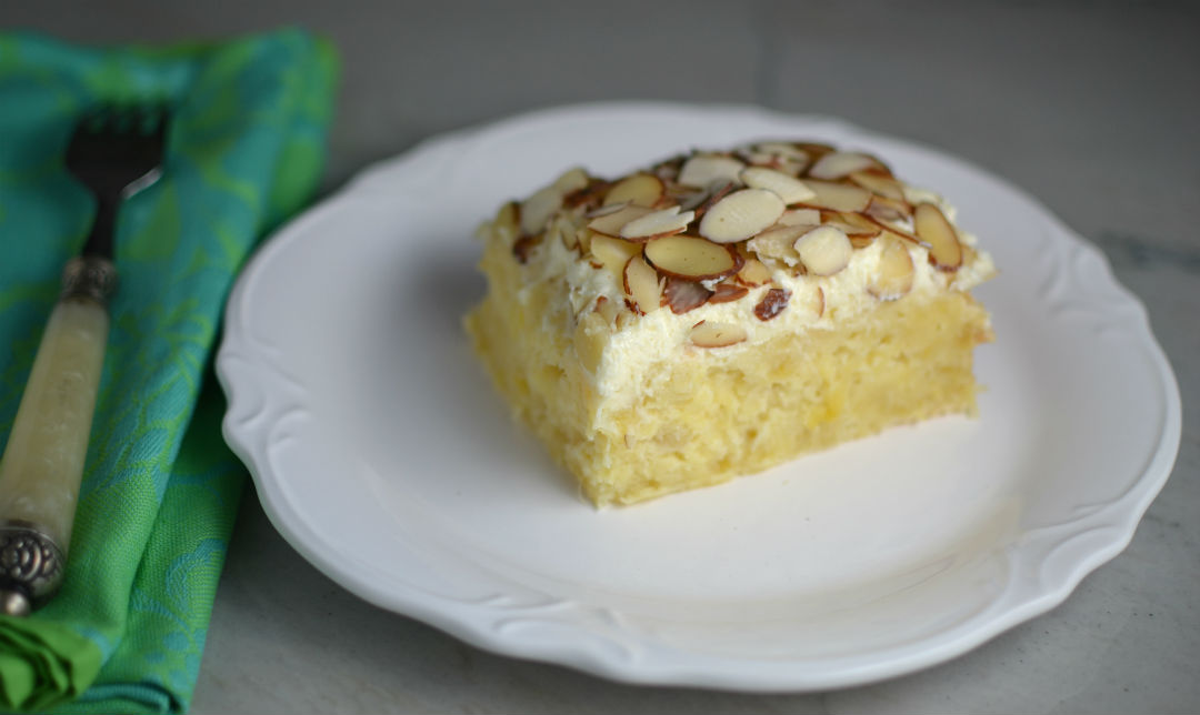 Pineapple Toasted Almond Cake