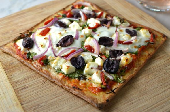 Grilled Quinoa Pizza