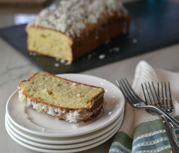 Coconut Banana Loaf with Lime Glaze