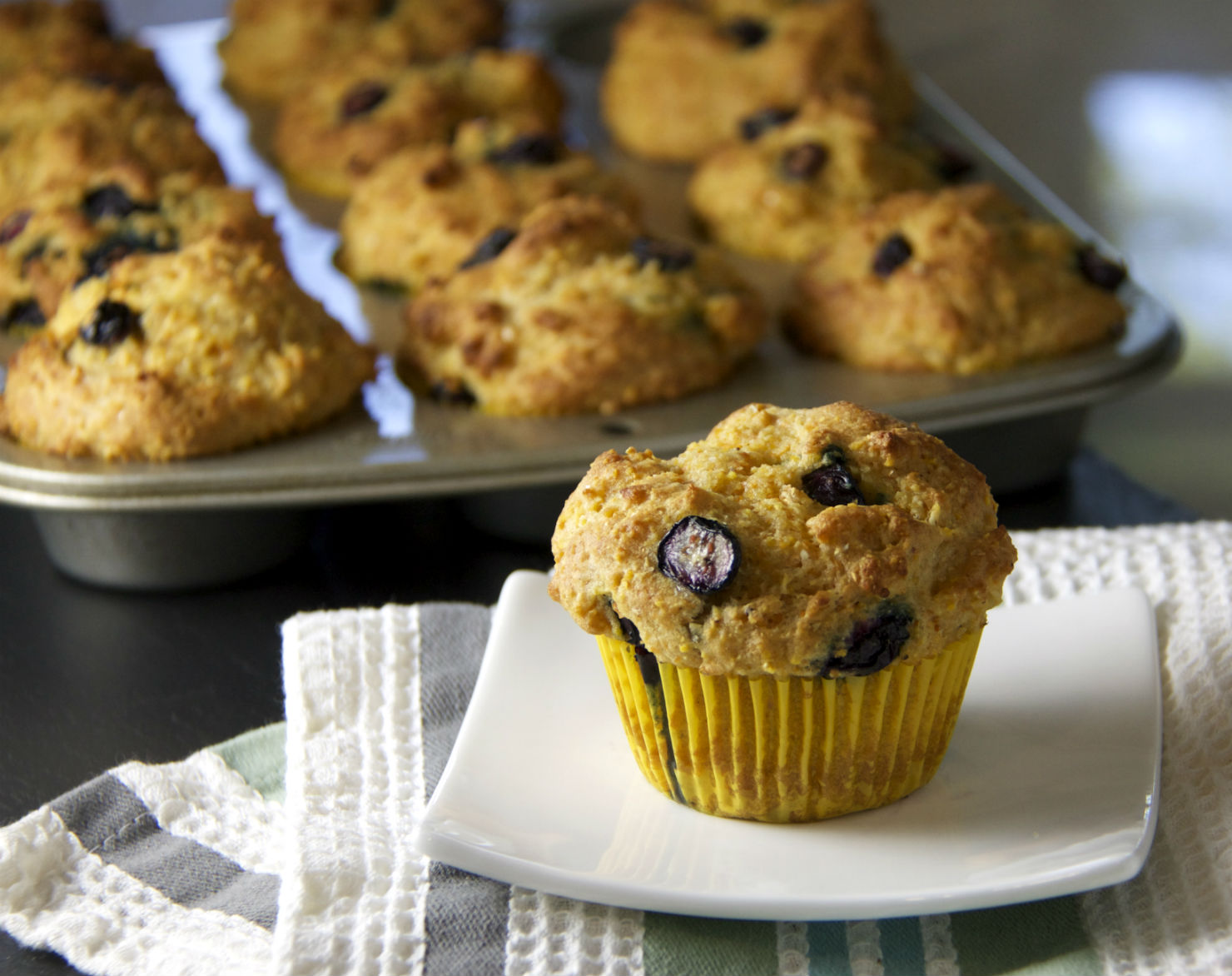 Blueberry corn muffin