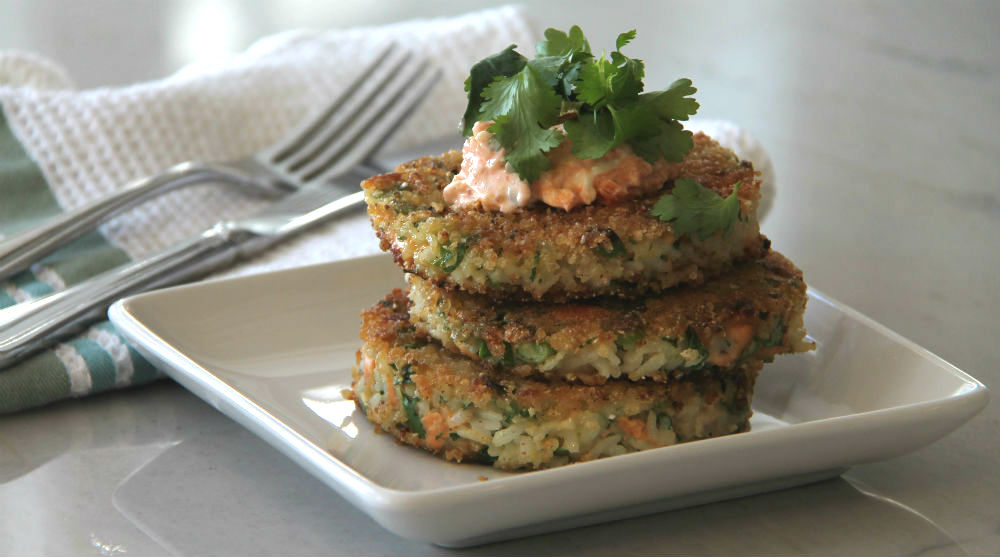 Salmon Rice Cakes