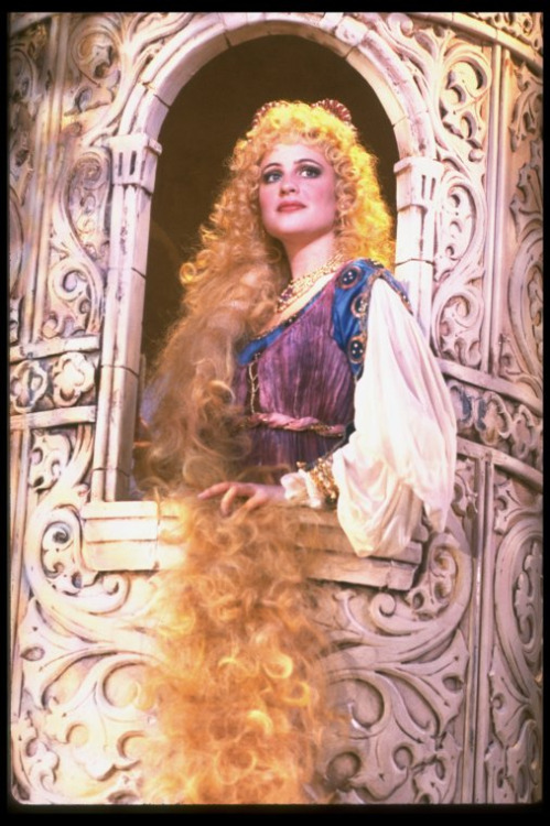 Pamela Winslow Kashani as Rapunzel in the original broadway cast of Into the Woods