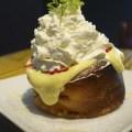カフェ アサンのスフレホットケーキ