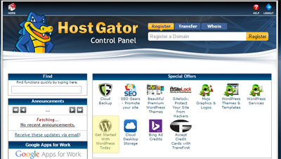 Instalasi WordPress HostGator