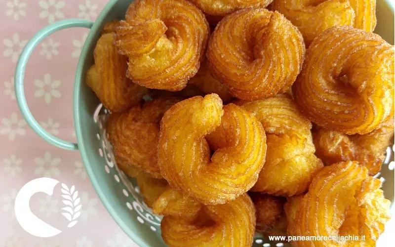 Zeppole fritte senza glutine