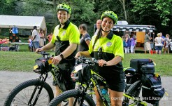 Chad Padgett and Deana Ann Boggs, bike EMTs for the event.