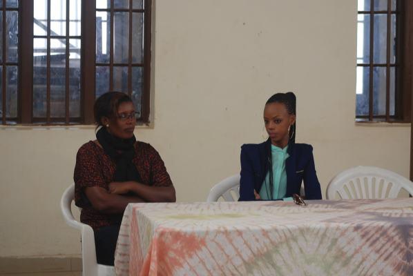 Jeannette Kabanda umukozi wa RDRC na Nyampinga Mutesi Jolly