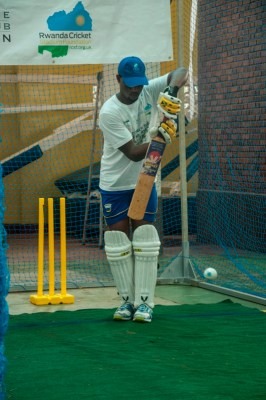 Dusingizimana is attempting to break the world record by batting for 51 hours (Photo by George Baryamwisaki)
