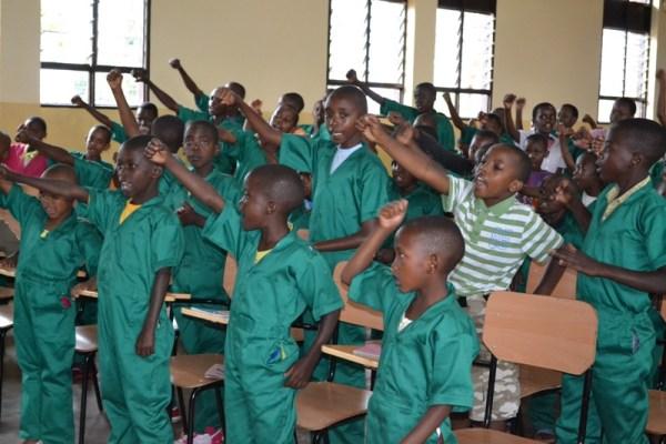Abana bo muri gahunda ya Space for Children bigishwa indangagaciro na kirazira nyarwanda. (Photo/Courtesy)