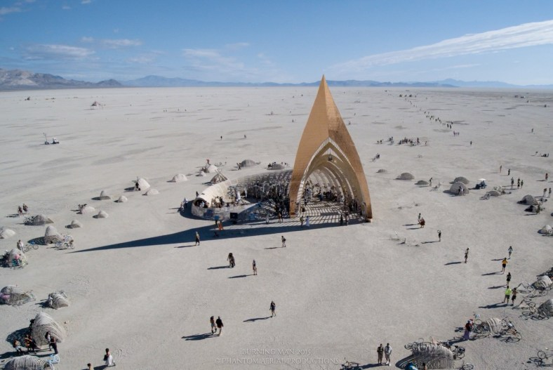 Burning Man des d'un dron