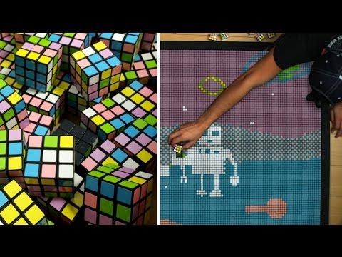 La història d'amor de dos robots: Rubik's Cube Animation