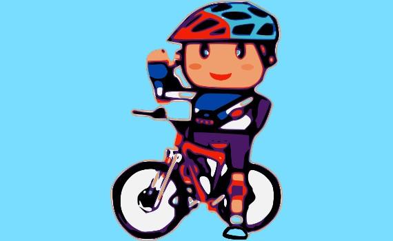 腳踏車小男孩