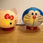 キティちゃん、ドラえもん提灯抽選で2名様に!ツキダテ商店さんよりプレゼントですよ〜。