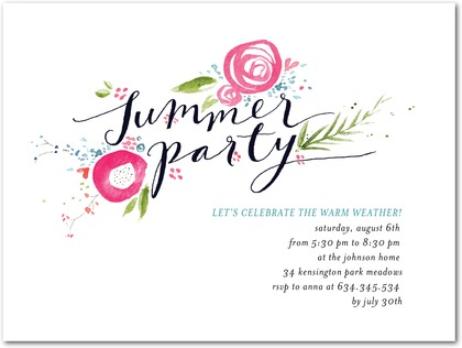 Inspired Garden Summer Party Invitations