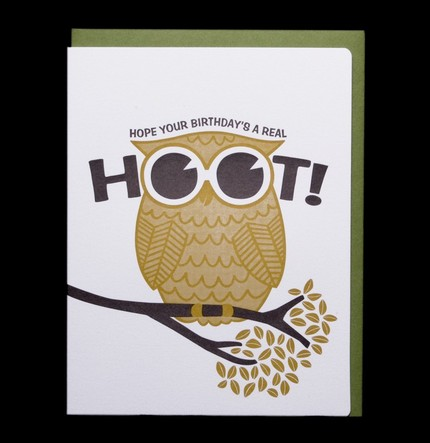 Dude and Chick Letterpress Birthday Cards
