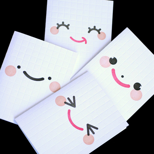 Cheeky Faces Letterpress Cards