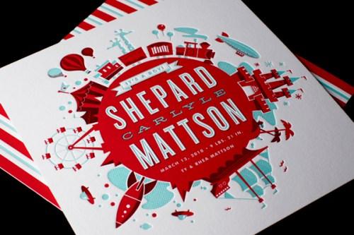 Mattson Letterpress Birth Announcement