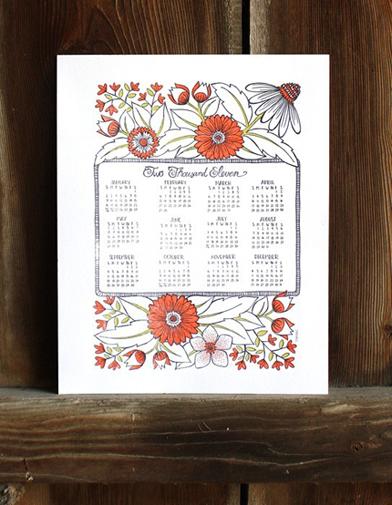 1Canoe2 Letterpress 2011 Calendar