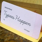 A. Favorite Typoes Happen Letterpress Card