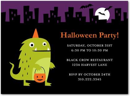 Halloween Monster Fun Party Invitations