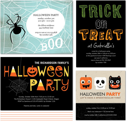 halloween party invitations?resize=500%2C481 from the shop friday cute halloween party invites paper crave,Cute Halloween Party Invitations