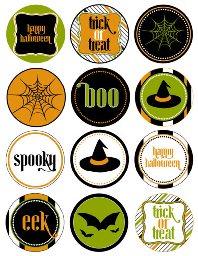 Printable Halloween Circle Tags