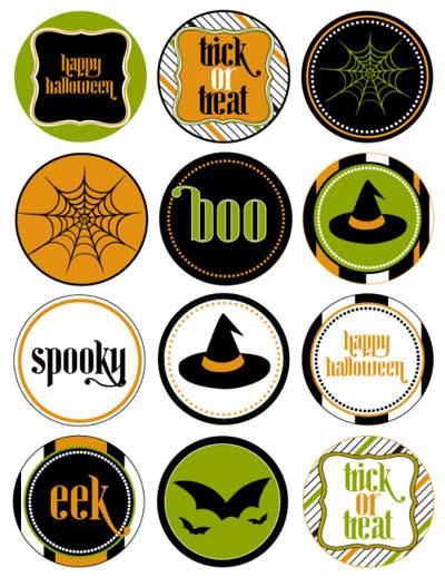 Printable Halloween Circle Tags