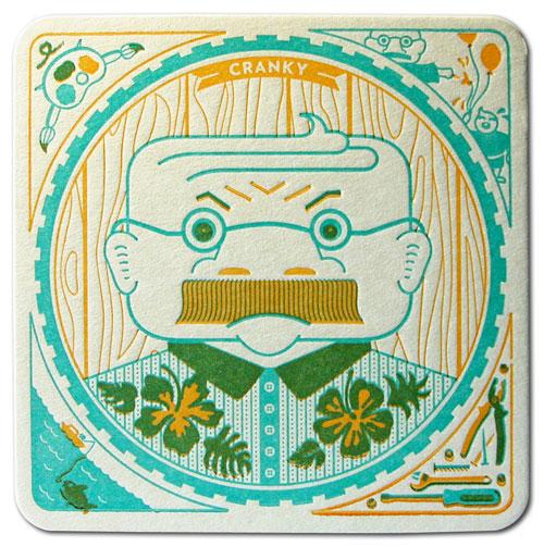 Cranky Letterpress Coaster